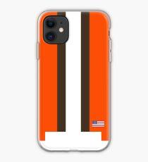 Cleveland Helmet Stripe iPhone Case