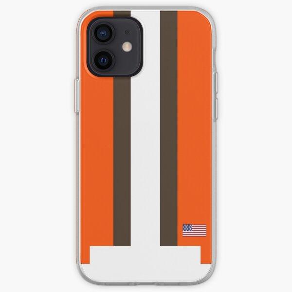 Raya de casco de Cleveland Funda blanda para iPhone