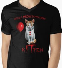 We All MEOW Down Here Clown Cat Kitten IT Halloween Funny T-Shirt