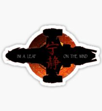 I'm a leaf on the wind Sticker