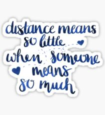 Long distances relationship Sticker