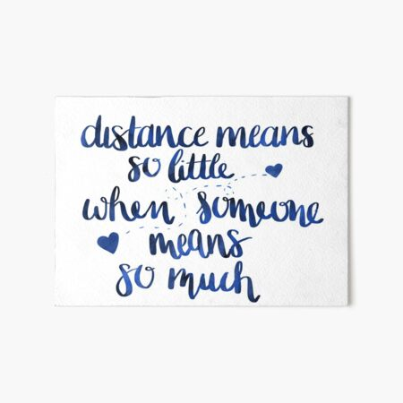 Long distances relationship Art Board Print
