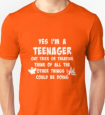 Teenager Too Old to Trick or Treat Halloween T-Shirt