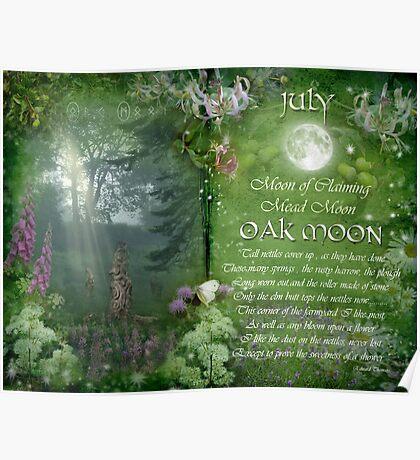 July : Oak Moon Poster