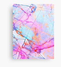 Graffiti Candy Marble Metal Print
