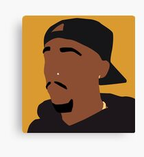 Tupac- Orange Canvas Print