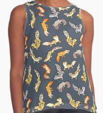 Blusa sin mangas geckos de gemelos en gris oscuro