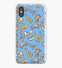 chub geckos in blue iPhone Case