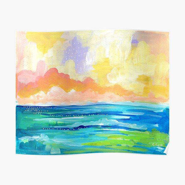 Abstract Seascape I Poster