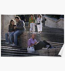 Piazza di Spagna Roma Poster