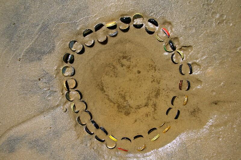 circle of bottlecaps by jacquelinegugli