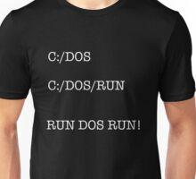 C:/DOS/WHITEWRITTING Unisex T-Shirt