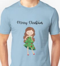 I am a Christmas Girl - Christmas tree inspired T-Shirt