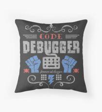 Code Debugger Throw Pillow