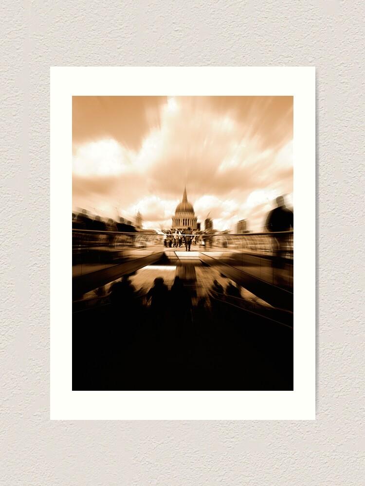 Alternate view of St Paul's Cathedral, across the Millennium Bridge. Art Print