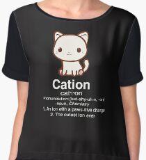 Cute Science Cat T Shirt-Cation Chemistry Desinition for Women Men Women's Chiffon Top