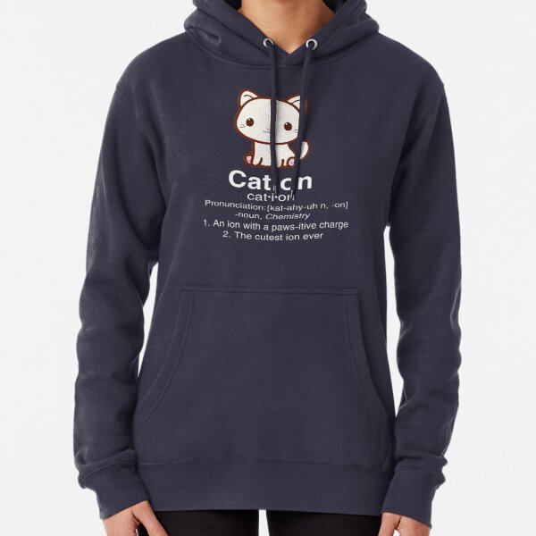 Cute Science Cat T Shirt-Cation Chemistry Desinition for Women Men Pullover Hoodie