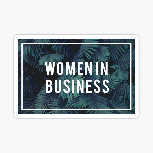 Women in Business Sticker