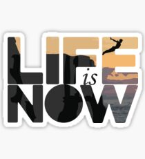 Life Is Now Cliff Diving Sticker