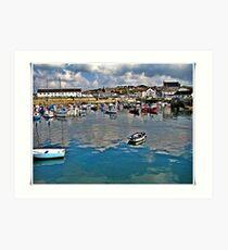 Porthleven Harbour, Art Print