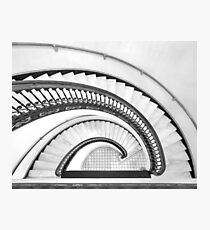 The Arlington Hotel - spiral stair (B&W) Photographic Print