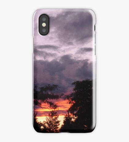 The sun was setting under the rain iPhone Case/Skin