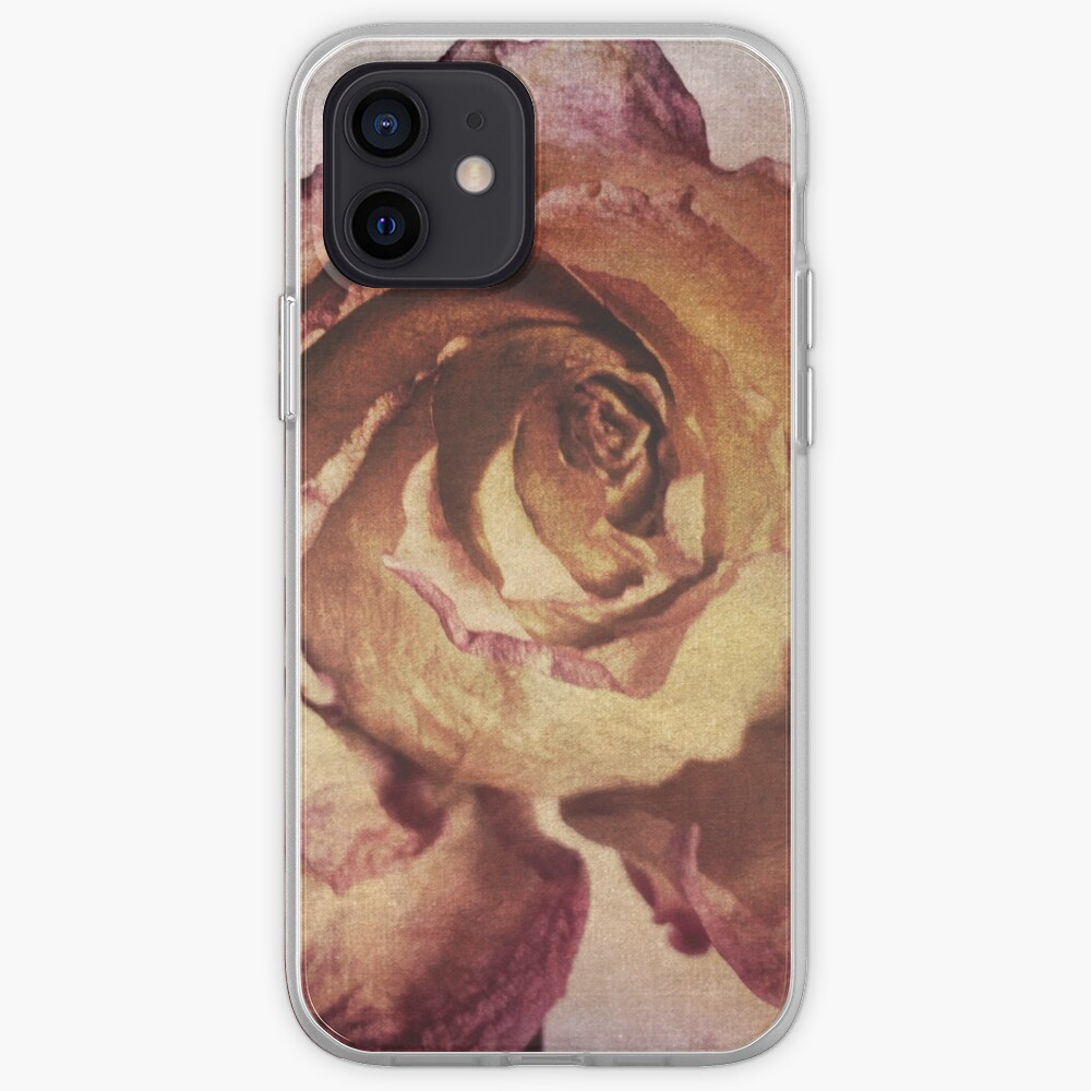Rose in Time - Flower Lovers - Vintage Dusty Pink Rose Art iPhone Case & Cover