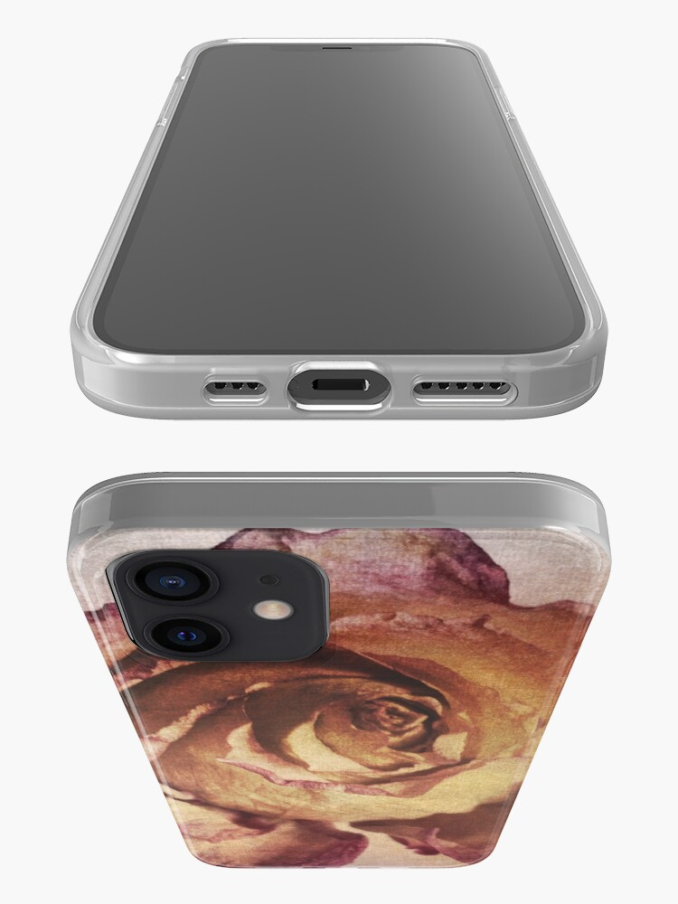 Alternate view of Rose in Time - Flower Lovers - Vintage Dusty Pink Rose Art iPhone Case & Cover