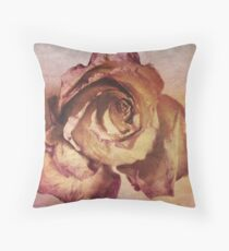 Rose in Time Throw Pillow