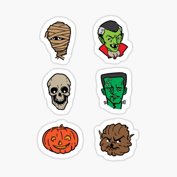 Scary monsters! Sticker