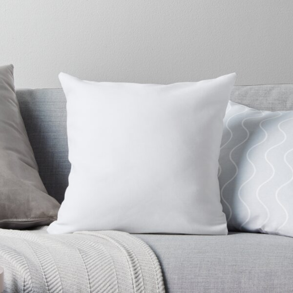 PLAIN SOLID GHOST WHITE - 100 WHITE AND NEUTRAL SHADES ON OZCUSHIONS Throw Pillow