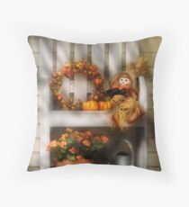 Symbols of Autumn Throw Pillow