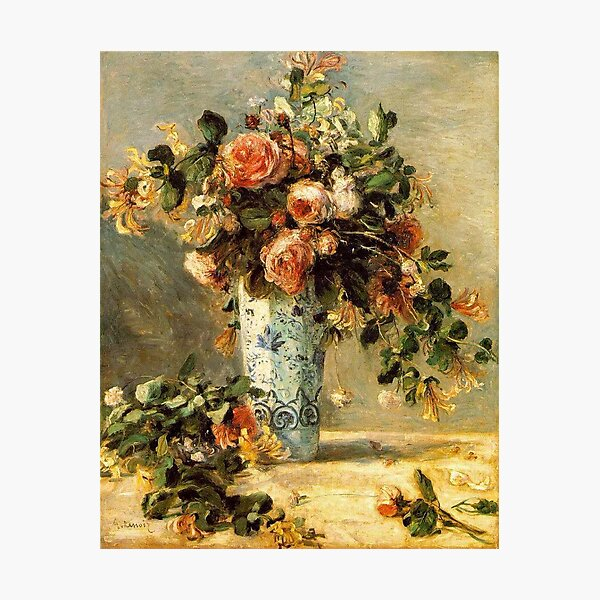 Vintage Pierre Auguste Renoir Vase of Flowers 1881 Fine Art Photographic Print