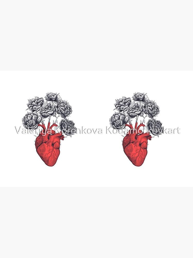 Heart with peonies von kodamorkovkart