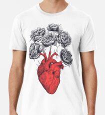 Heart with peonies Premium T-Shirt