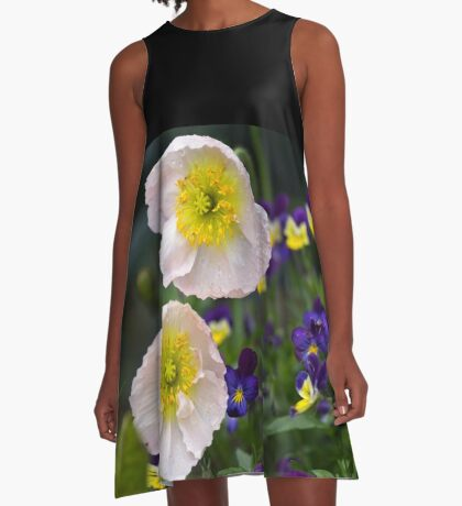 Poppies come in Twos A-Line Dress