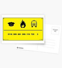 0118 999 881 999 725 3 Postcards