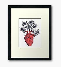 Blooming heart Framed Print