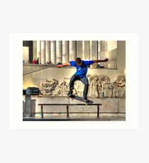 The Skateboarder Art Print