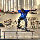 The Skateboarder by Xandru