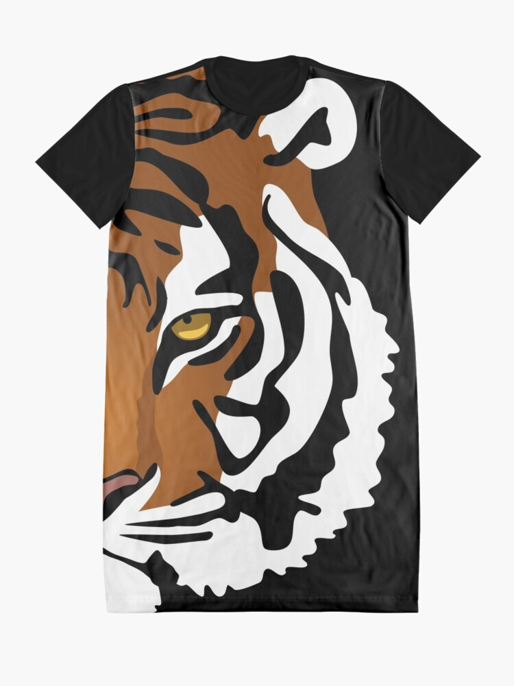 Alternate view of Tiger's Eye Graphic T-Shirt Dress