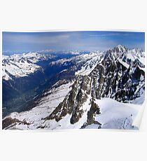 Chamonix valley Poster
