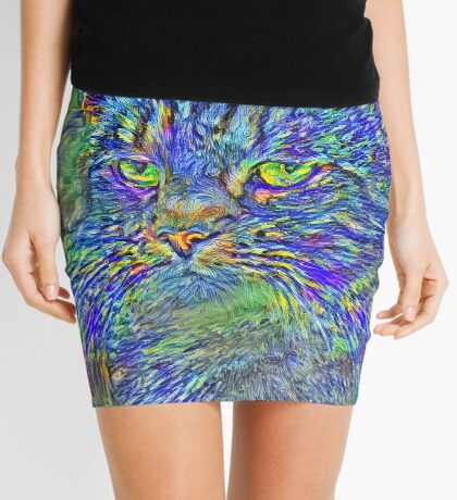 Artificial neural style Post-Impressionism cat Mini Skirt