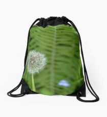 White dandelion in summer Drawstring Bag