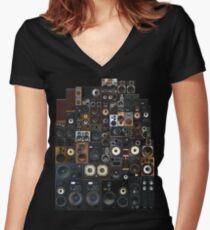 Speakers Women's Fitted V-Neck T-Shirt