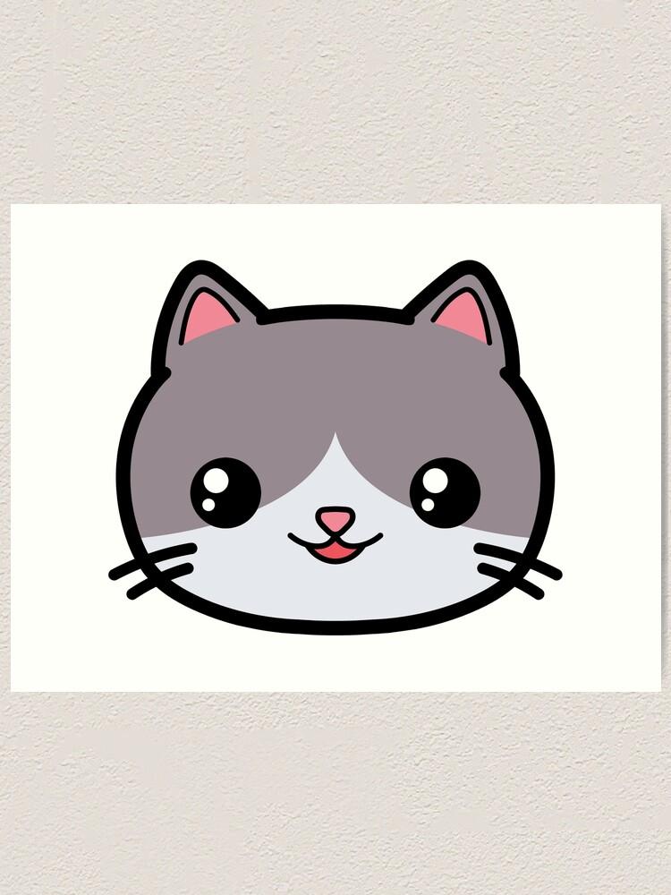 """Cat Kawaii Cute"" Art Print by awesomekawaii | Redbubble"