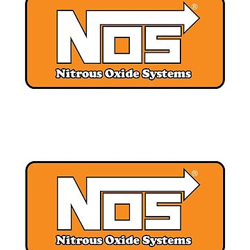 NOS Nitrous double stickers (2) by Haxyl