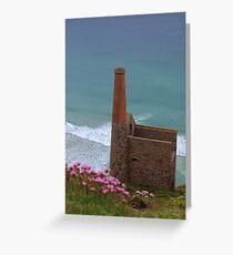 Wheal Coates Engine House, St Agnes, Cornwall.  Greeting Card