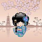 Japanische Keiko Kokeshi Puppe von Natalia Linnik