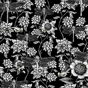 Nature Garden in Black and White by Hoopday